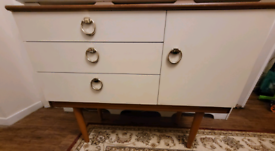 Retro 70s schrieber teak & cream set of draws