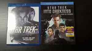 Star Trek (Blu Ray) and Star Trek Into Darkness (Blu Ray & DVD)