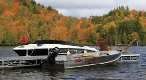 14 ft Lund Fishing boat, trailer and 9.9 hp Mercury for Sale