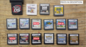 Loose Nintendo DS and 3DS games