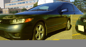 Honda Civic Coupe EX 2007 For Sale $4100 with 4 snow tires