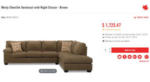 Beautiful Morty Chenille Sectional