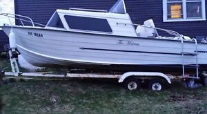 Aluminum Cabin Cruiser 18' may trade for speed boat