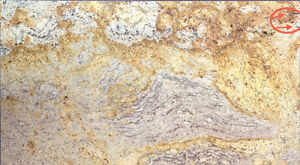 "Granite Remnant: Jupina Gold  31""x 14-1/2"" 