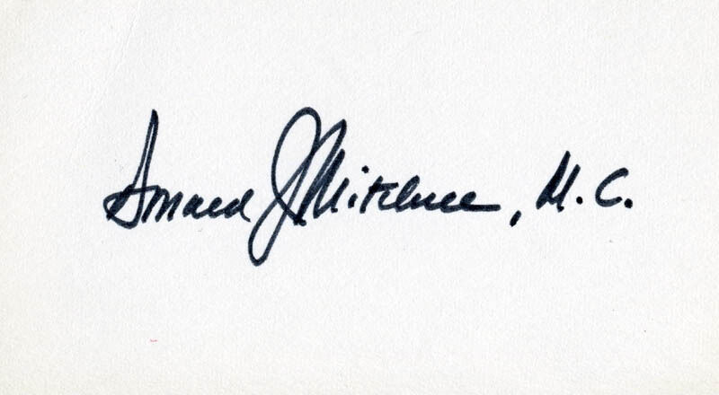 DONALD J. MITCHELL - SIGNATURE(S)