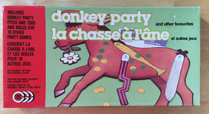 DONKEY PARTY and other favourites. Board Games. Vintage