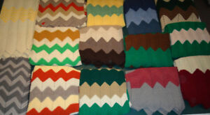 WOOL  BLANKETS  -  NEW  -  HANDCROCHETED