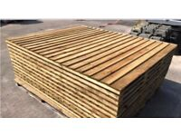 Superb quality heavy duty pressure treated feather edge fence panels