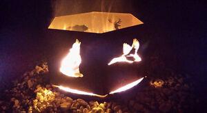 Plasma cut, custom designed metal fire rings / fire pits.