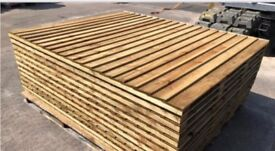 Top quality vertical board tanalised heavy duty fence panels