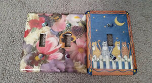 Light switch decorative covers