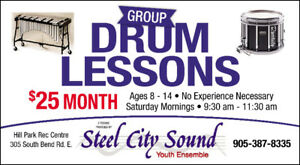 Steel City Sound Youth Drum / Percussion Lessons