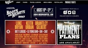 COUNTRY HEAVEN - Boots and Hearts Tickets