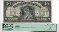 Canada Standard Bank 20 note