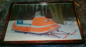 vintage Snowmobile pics & ads- mounted,ready to display