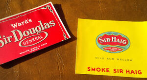 Cigar, Tobacco Box Liners, William Ward & Sons, London, ON Kitchener / Waterloo Kitchener Area image 1