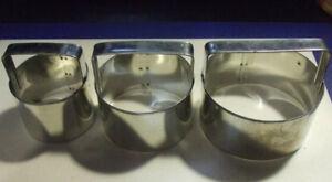 3 Découpoirs à beignets/Donuts. Diamètre 8 cm. & 6 cm. & 5 cm.