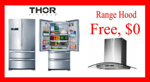Thor Kitchen 36 Inch Refrigerator with Range hood bundle $2399!