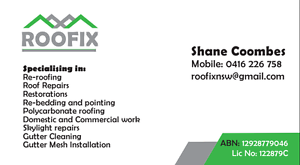 Roofix-all roof repairs Strathfield Strathfield Area Preview