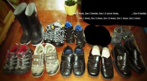 **Lot of Boys Footwear Size 8, 9, 12 & 1, 2 & 3 youth for saleS
