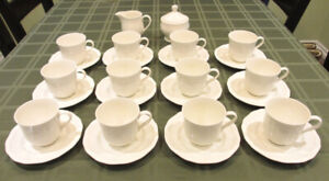 CUPS, SERVING PLATES, SUGAR BOWL  MIKASA - TAKE ALL $ 150