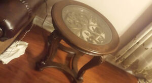 ashley solid wood side table
