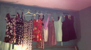 Selling short and long dresses some never worn and some worn 1