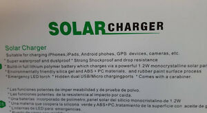 NEW Solar Powered Waterproof Shock Resistant Charger Cambridge Kitchener Area image 3