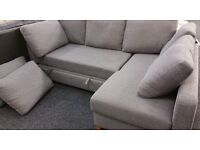 Marks and spencer seconds corner sofa bed in grey
