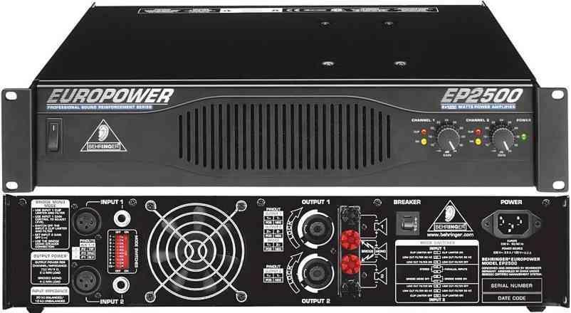 Behringer Ep2500 Europower 2 X 1 200 Watt Power Amplifier