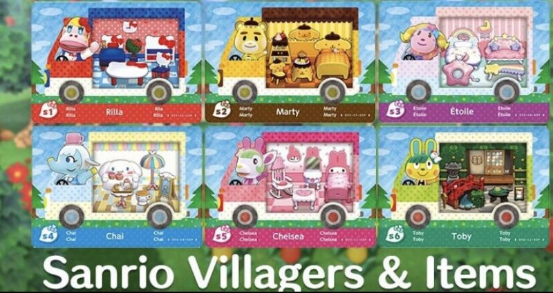 Sanrio Animal crossing Amiibo Cards *All 6 New Characters*