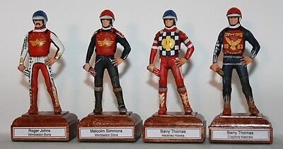 Any Speedway Team Rider Figure any year and team. hand painted metal figurines