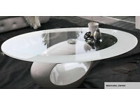 coffee table modern glass top in white