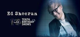 2x Ed Sheeran standing tickets, O2 Arena London, Thursday 22nd June 2017
