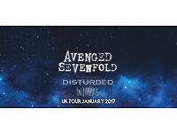 Avenged Sevenfold & Disturbed ticket Sunday 22nd January - Seated Block 101