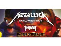 Metallica O2 concert ticket Sunday 22nd Oct