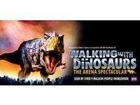 WALKING WITH DINOSAURS - 2 x VIP TICKETS 02 ARENA LONDON SUNDAY 19TH AUGUST 2018