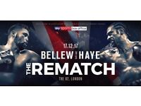 Bellew vs Haye at London's O2 Arena on Sunday, December 17 – Section 112