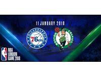 NBA London Game 2018 - 11th January 2018 @The O2 Arena London Philadelphia 76ers and Boston Celtics