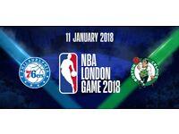 2 x NBA London Tickets - Boston Celtics vs Philadelphia 76ers - 11/01/18