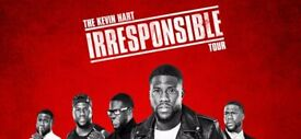 KEVIN HART LIVE @ O2 London Sunday 2nd September 18 2 seated tickets ** lower seats** £250 for pair