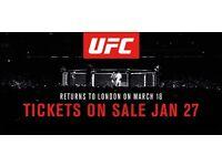 2 X UFC Tickets London