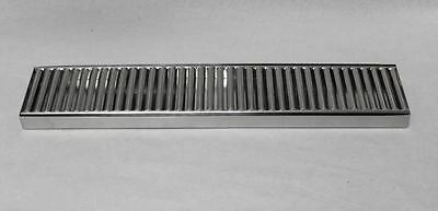 19 X 4 Stainless Beer Tap Coffee Faucet Drip Tray Pan With Grate No Drain