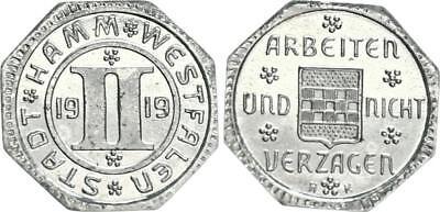Notgeld Stadt Hamm-Westfalen 2 Pfennig 1919 PP !!! Polierte Platte