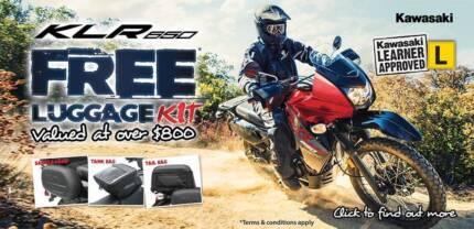 Kawasaki Authentic LUGGAGE KIT (KLR 650 2008-18) 4x bags/panniers