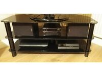 TV Stand (Black Glass) Suitable for 42 inch TV