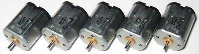 5 X Mabuchi Mini Electric Dc Motor - 1.5 Vdc - 10000 Rpm - 1.0mm Diameter Shaft