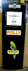 NEW POLLY GAS PUMP FRONT DOOR DISPLAY OIL REPLICA REPRODUCTION - FREE SHIPPING*