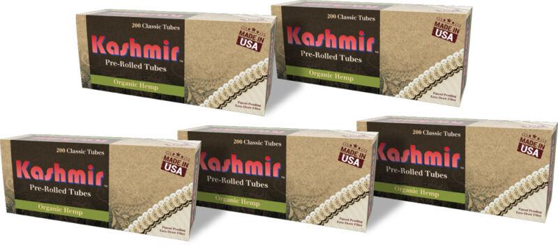 Kashmir Organic Hemp Classic Tubes - Five 200ct Cartons