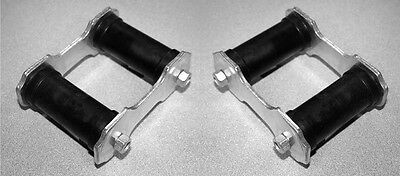 Right Leaf (New! 1965-1973 Ford Mustang Rear Leaf Spring shackle Kit Pair both left &)